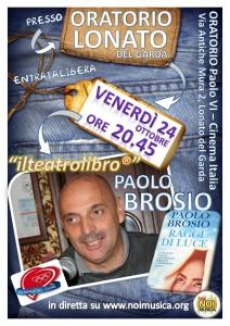 locandina TESTIMONIANZA PAOLO BROSIO Lonato 24-10-2014