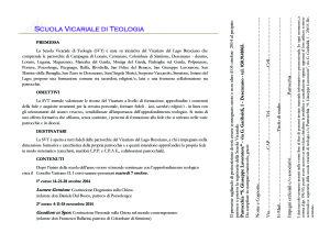 volantino SCUOLA VICARIALE TEOLOGIA retro