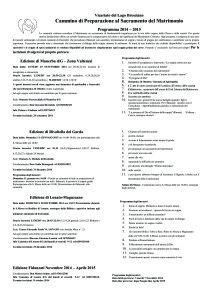 Percorsifidanzativicariato2015Foglio Ridotto per Affissione Parrocchie