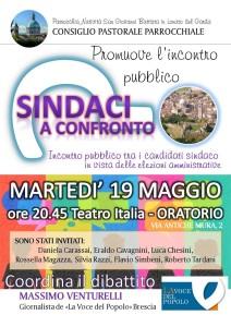 locandina DIBATTITO SINDACI 2015