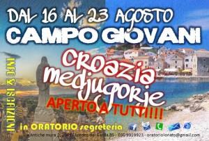 cartolina CAMPO GIOVANI 2015NEW