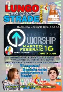 cartolina worship con reliquie GP2 a lonato 2016