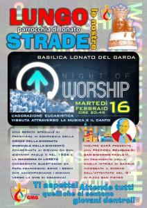 locandina worship con reliquie GP2 a lonato 2016
