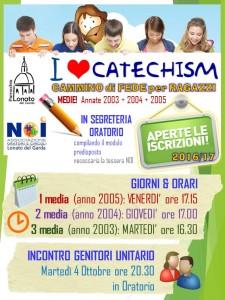 cartolina iscrizioni aperte catechismo 2016-17