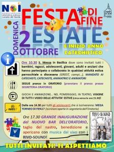 locandina ORATORIO FESTA FINE ESTATE e MANDATO CATECHISTE 2016